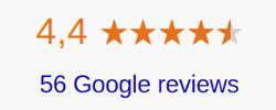 4.4 stars on Google